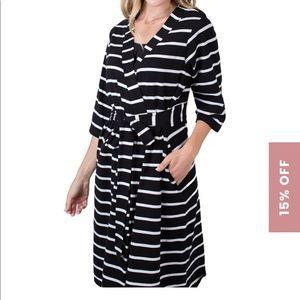 COPY - Baby Be Mine striped maternity robe